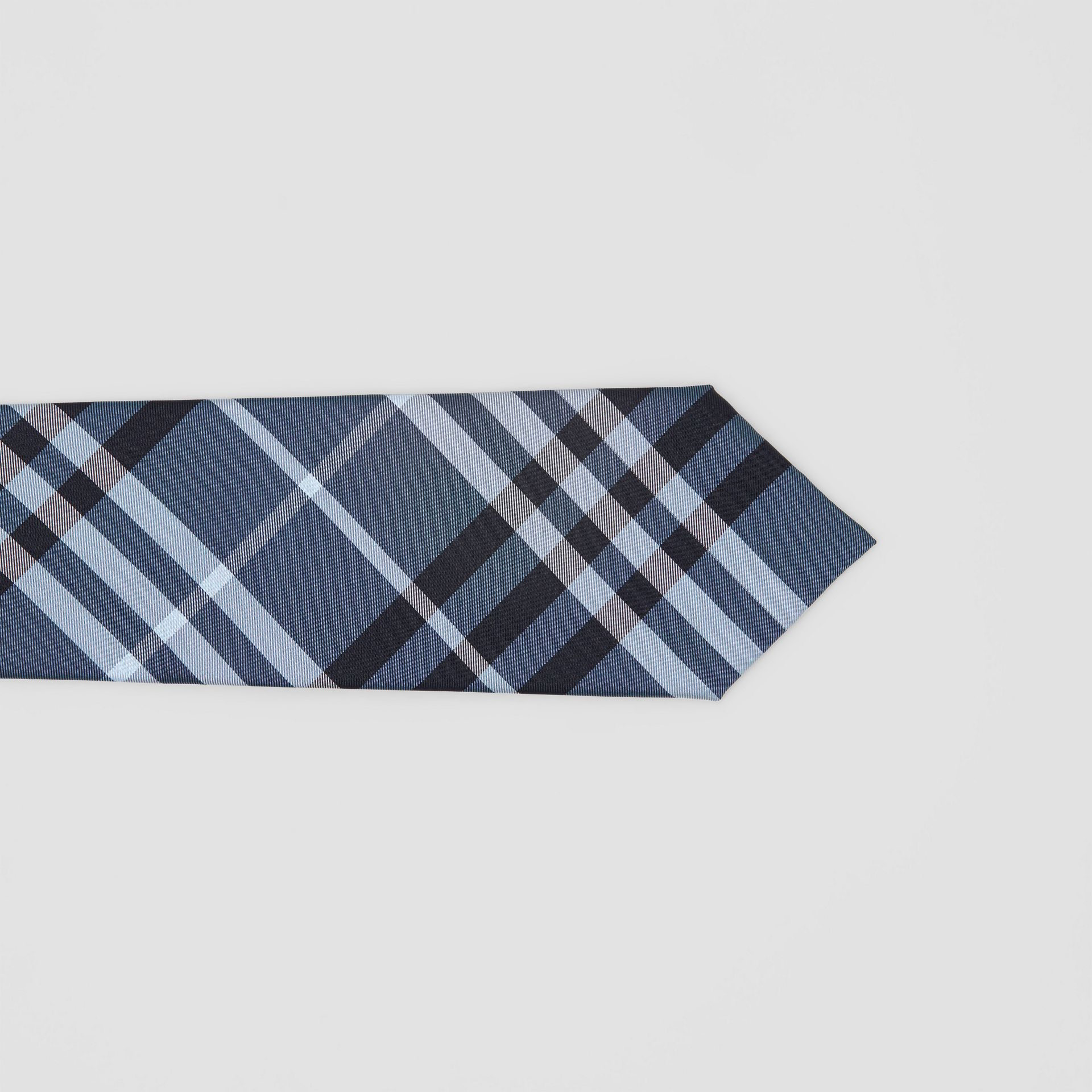 Classic Cut Vintage Check Silk Tie in Steel Blue - Men | Burberry - gallery image 1