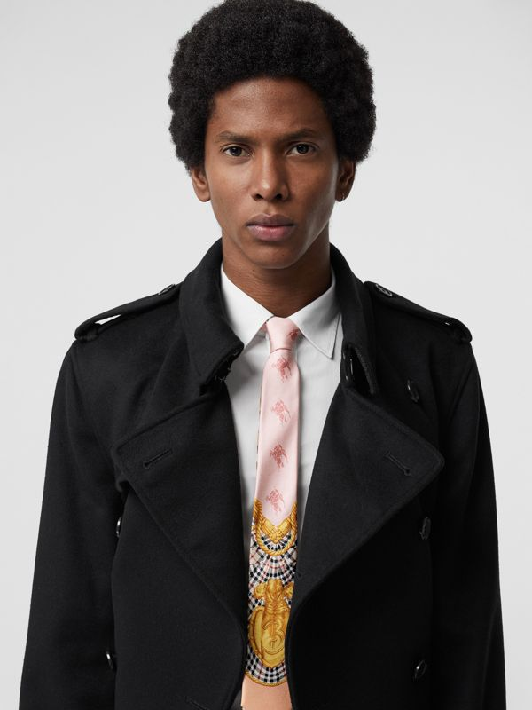 Slim Cut Archive Scarf Print Silk Tie in Pale Pink - Men | Burberry Hong Kong - cell image 2