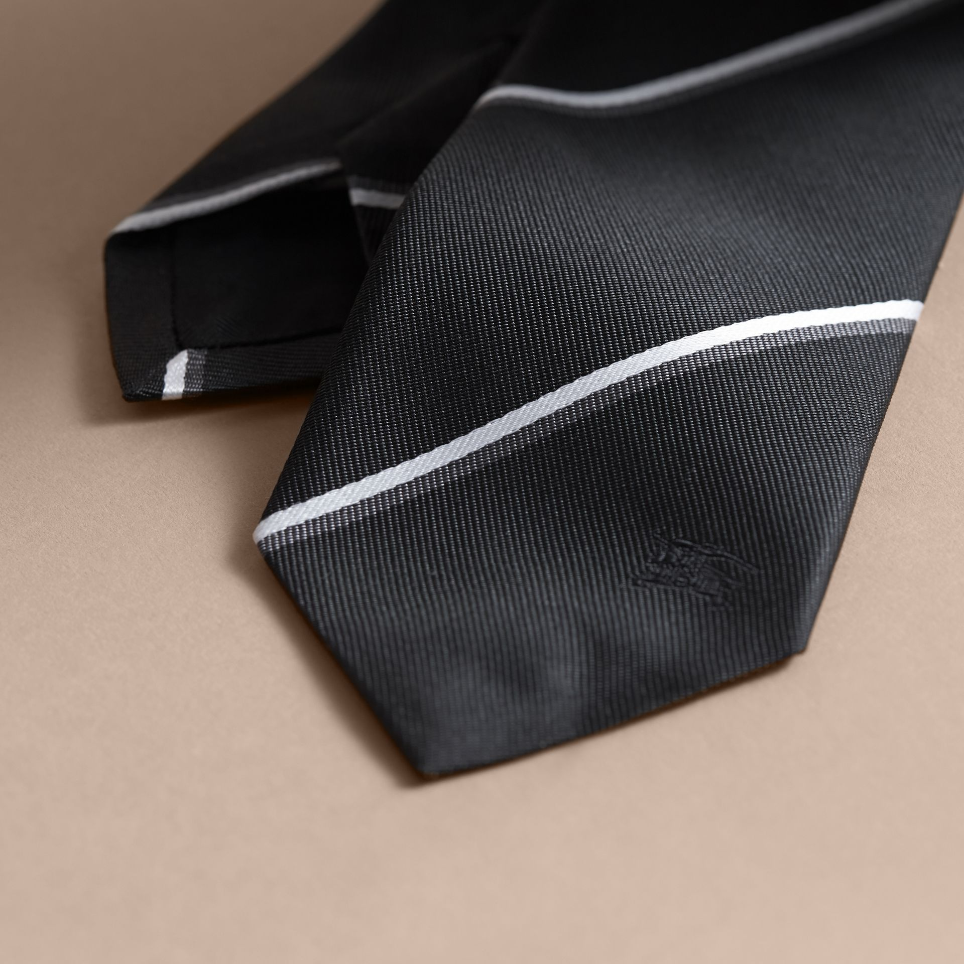Slim Fit Striped Silk Tie - gallery image 2