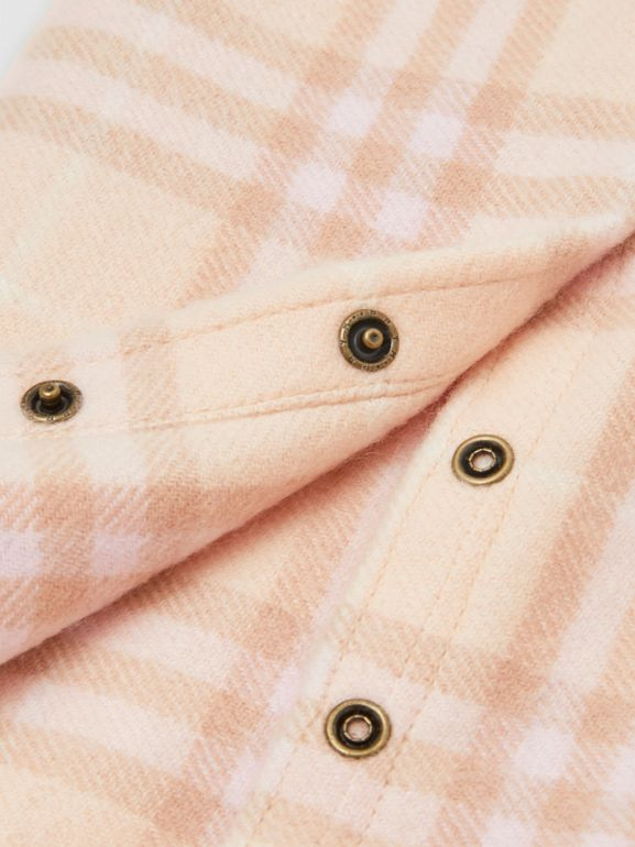 Vintage Check Cashmere Snood in Dusty Pink - Children | Burberry - cell image 1