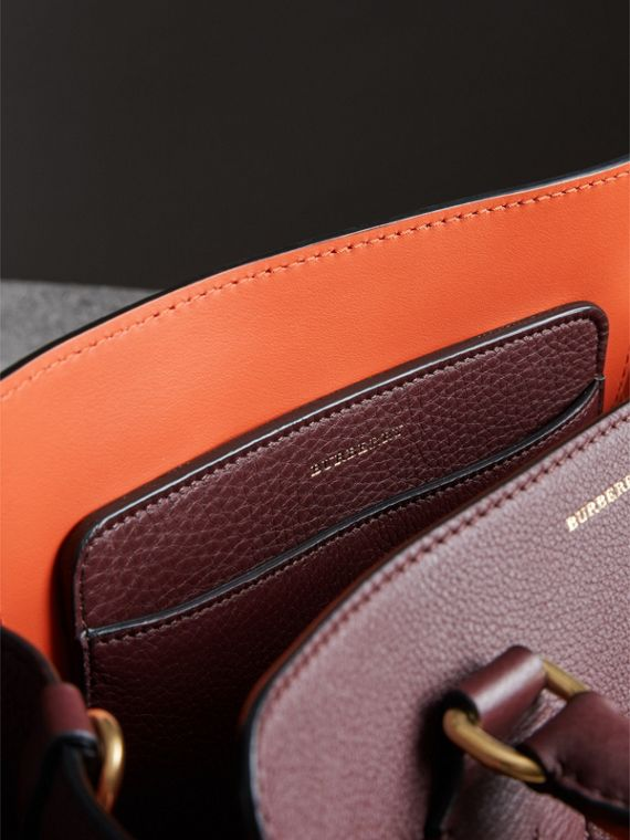 The Small Leather Belt Bag in Deep Claret - Women | Burberry - cell image 3