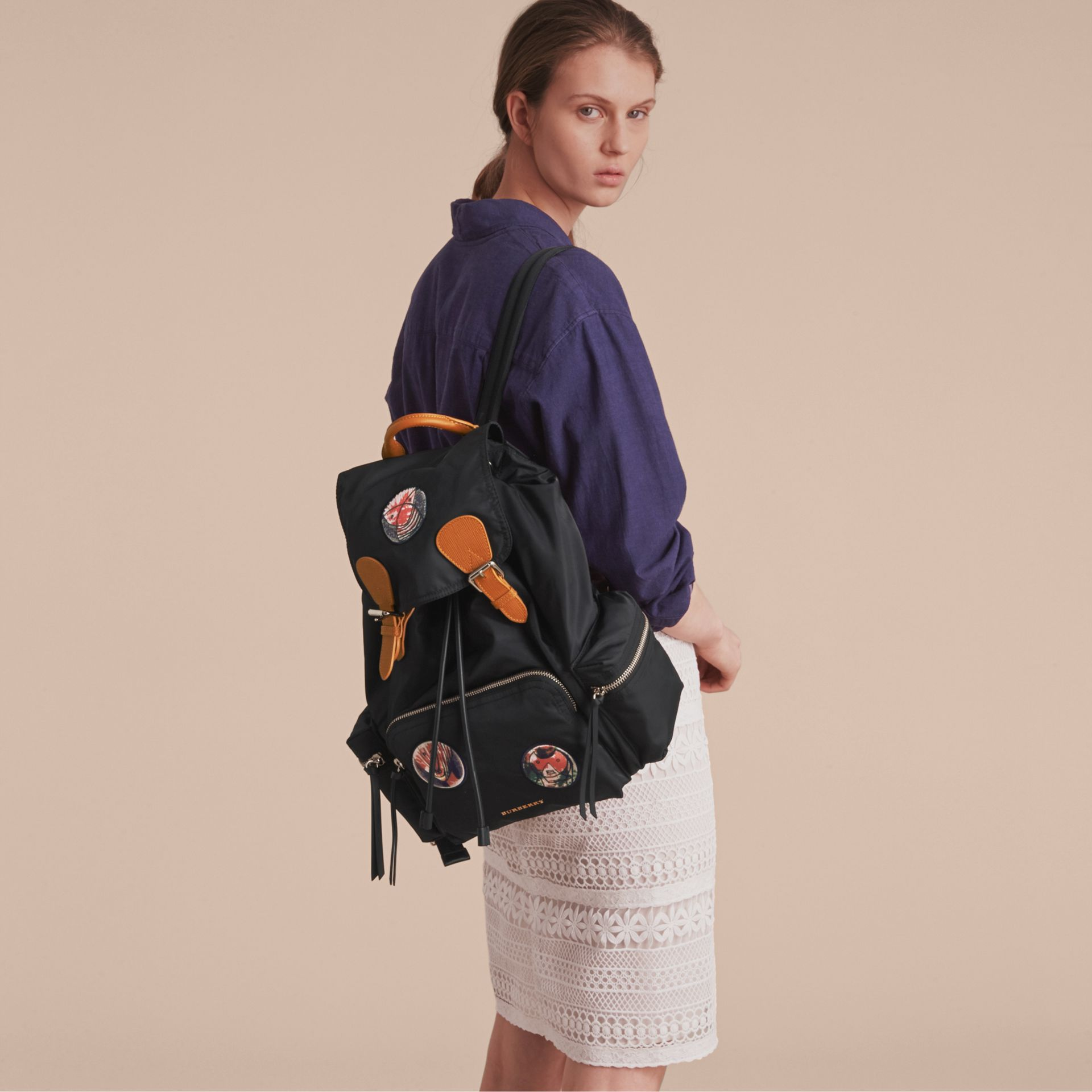 The Large Rucksack in Pallas Heads Appliqué - gallery image 3