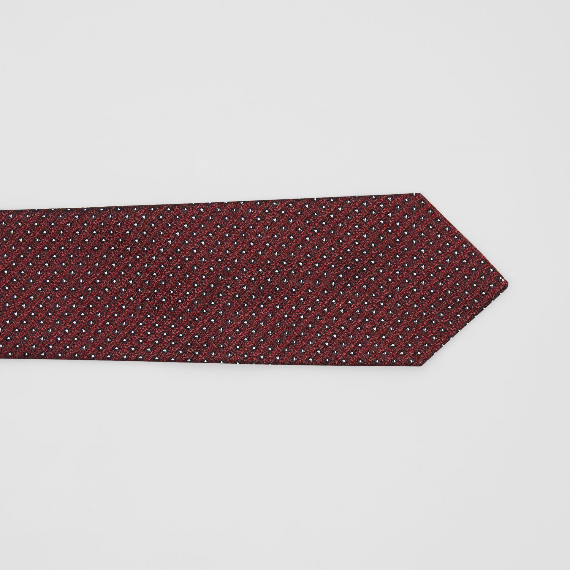 Classic Cut Micro Dot Silk Jacquard Tie in Oxblood - Men | Burberry - gallery image 1