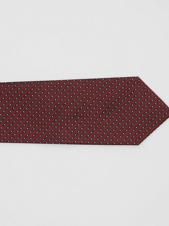 Classic Cut Micro Dot Silk Jacquard Tie in Oxblood - Men | Burberry - cell image 1