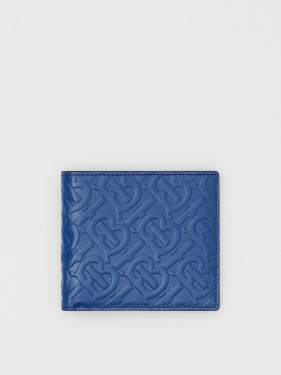 Monogram Leather International Bifold Wallet in Pale Canvas Blue