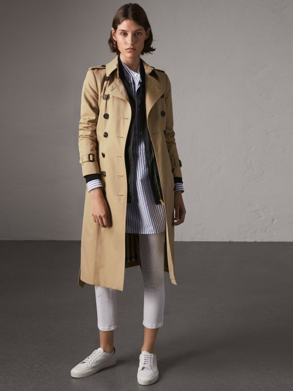 The Chelsea – Extra-long Trench Coat in Honey