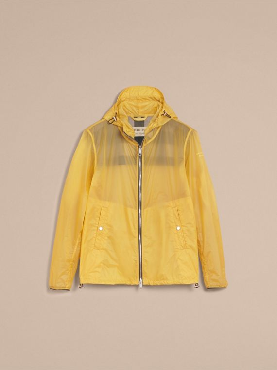 Hooded Super-lightweight Jacket in Pale Yellow - Men | Burberry Australia - cell image 3