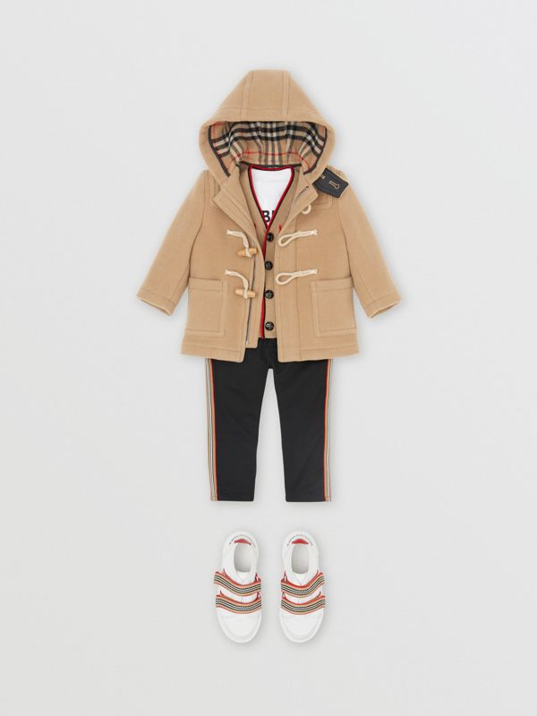 Boiled Wool Duffle Coat in Archive Beige - Children | Burberry - cell image 3