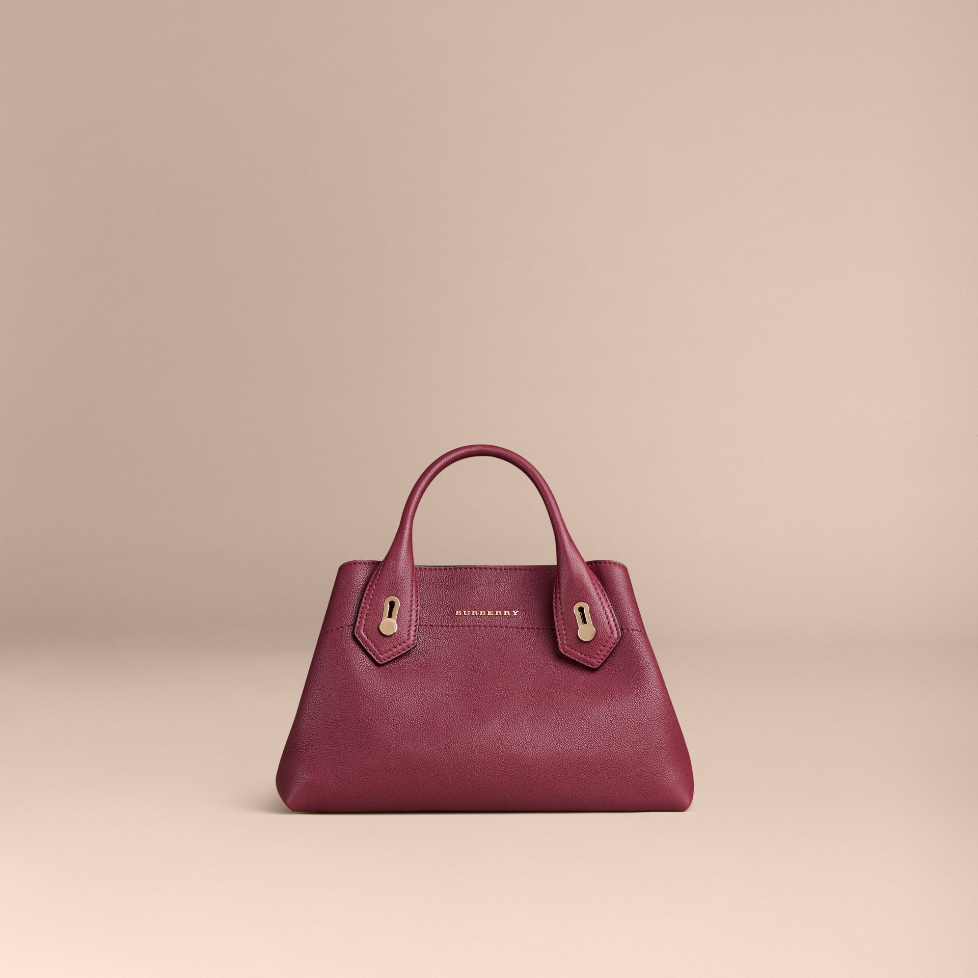 Dark plum The Small Milton in Grainy Leather Dark Plum - gallery image 6