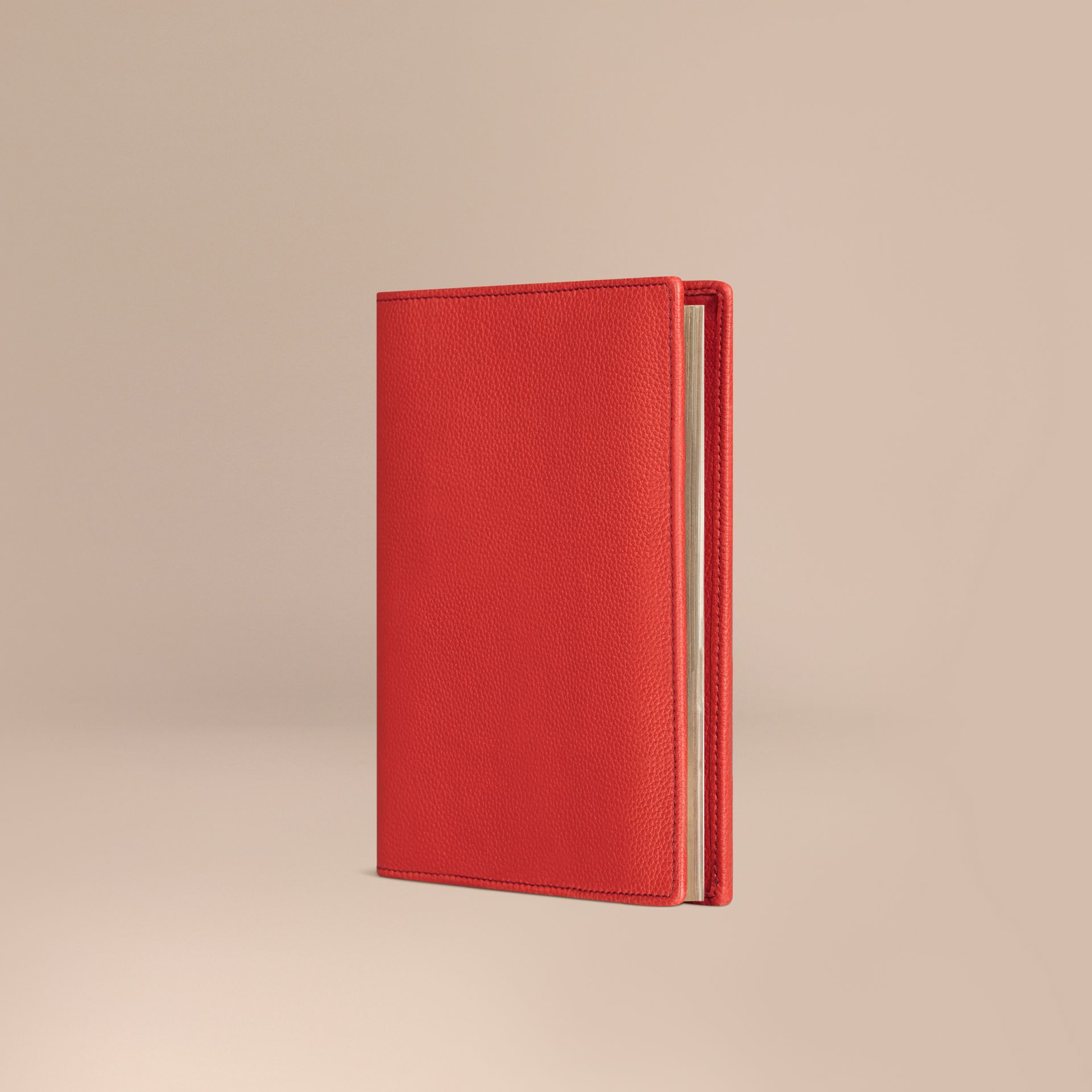 Grainy Leather 18 Month 2016/17 A5 Diary in Orange Red - gallery image 1