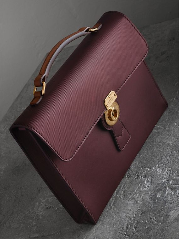 Borsa portadocumenti in pelle Trench Vino
