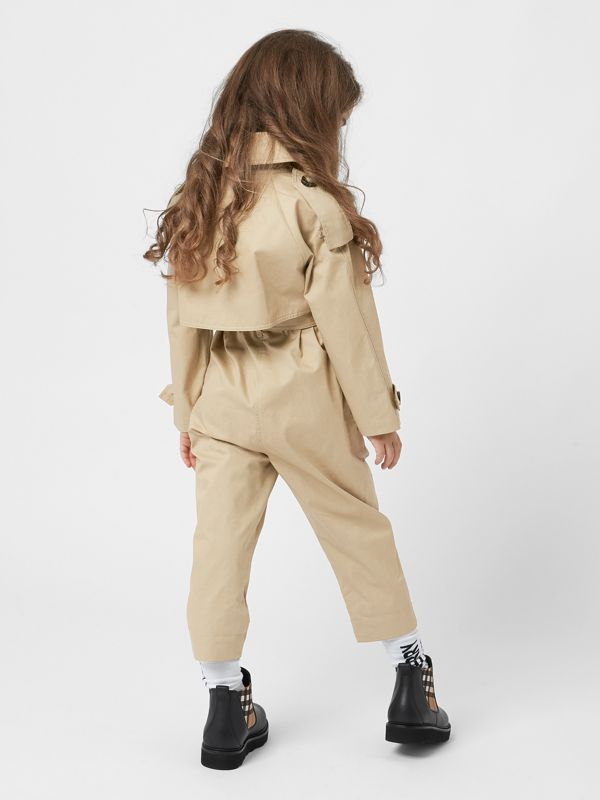 Cotton Trench Jumpsuit in Honey | Burberry - cell image 3