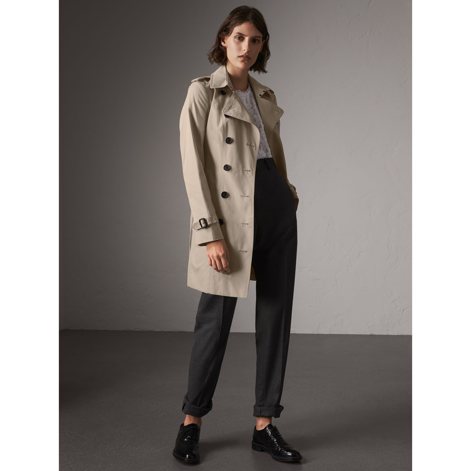 The Sandringham – Mid-length Trench Coat in Stone - Women | Burberry - gallery image 1