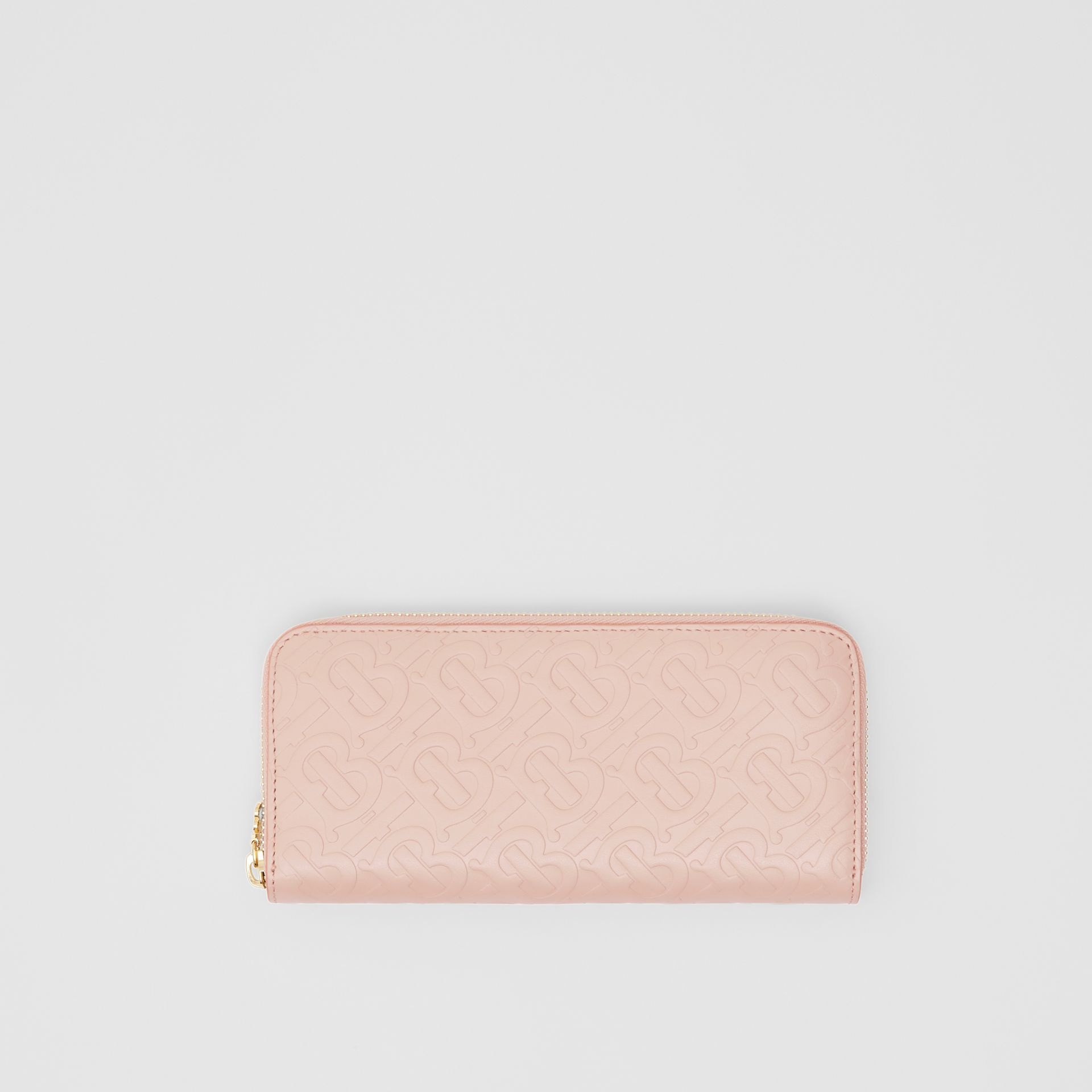 Monogram Leather Ziparound Wallet in Rose Beige - Women | Burberry - gallery image 0