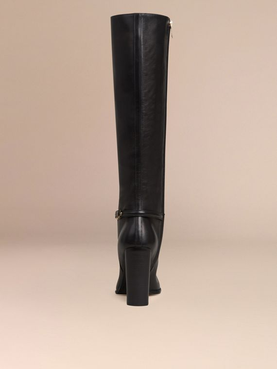 Knee-high Leather Boots - Women | Burberry - cell image 3