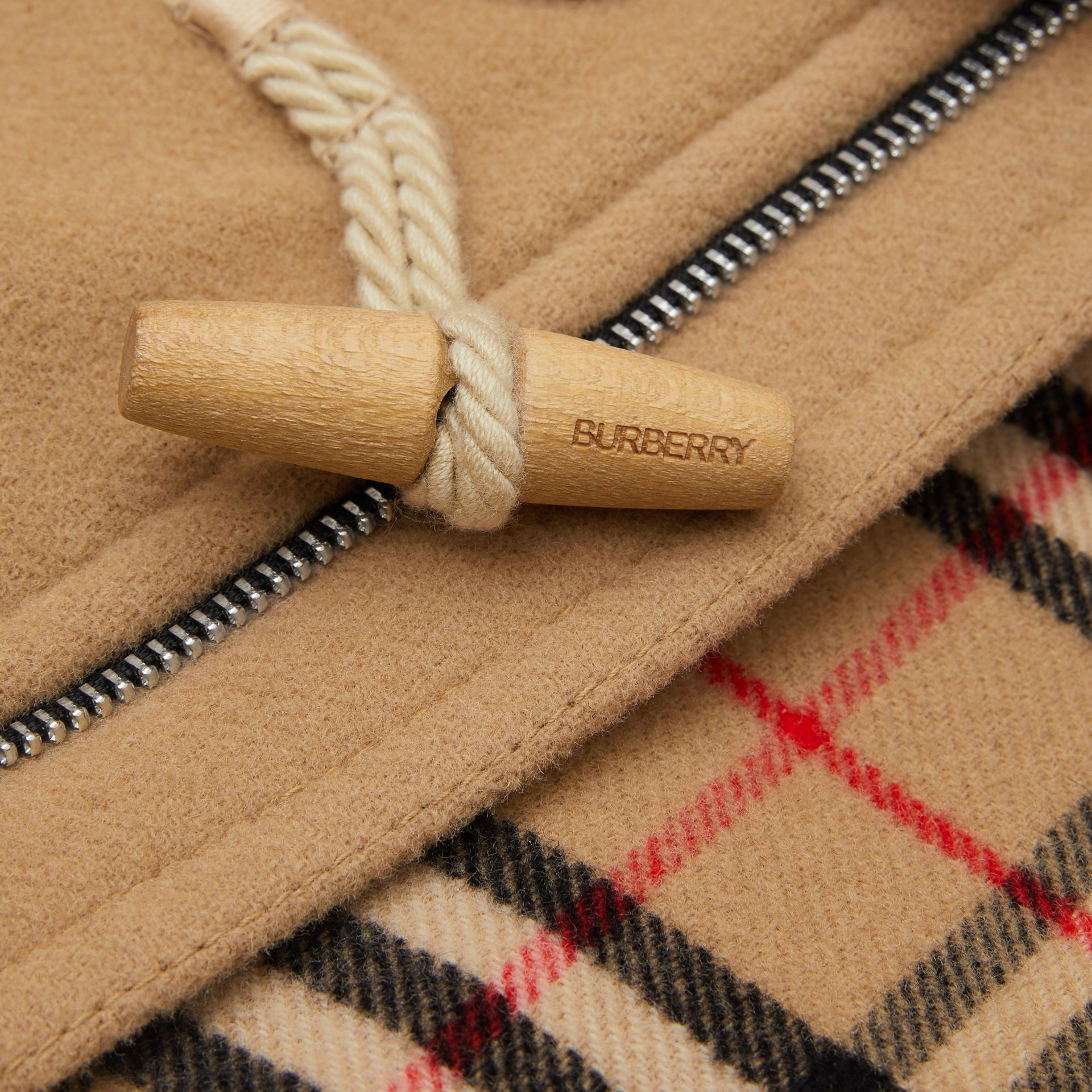 Boiled Wool Duffle Coat in Archive Beige | Burberry Canada - gallery image 1