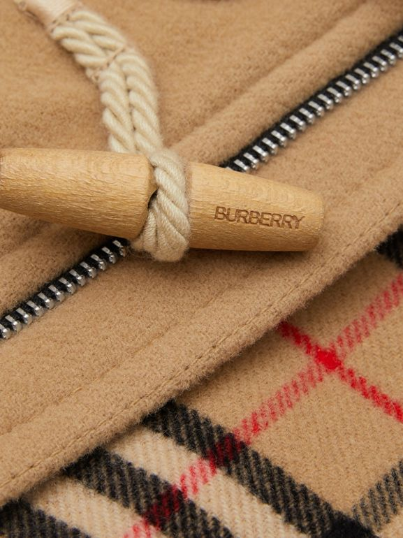 Boiled Wool Duffle Coat in Archive Beige | Burberry Canada - cell image 1