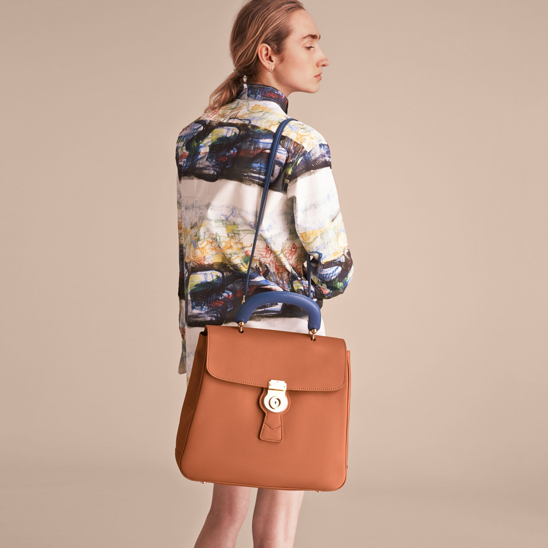 The Large DK88 Top Handle Bag in Bright Toffee - Women | Burberry - gallery image 9