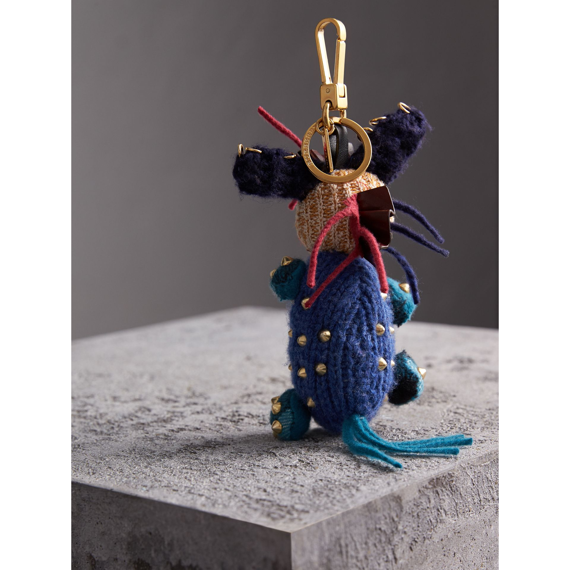 Mabel The Donkey Wool Charm in Navy Multicolour | Burberry - gallery image 4