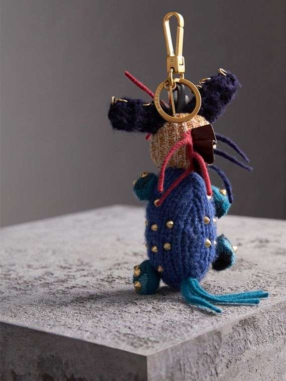 Mabel The Donkey Wool Charm in Navy Multicolour | Burberry - cell image 3