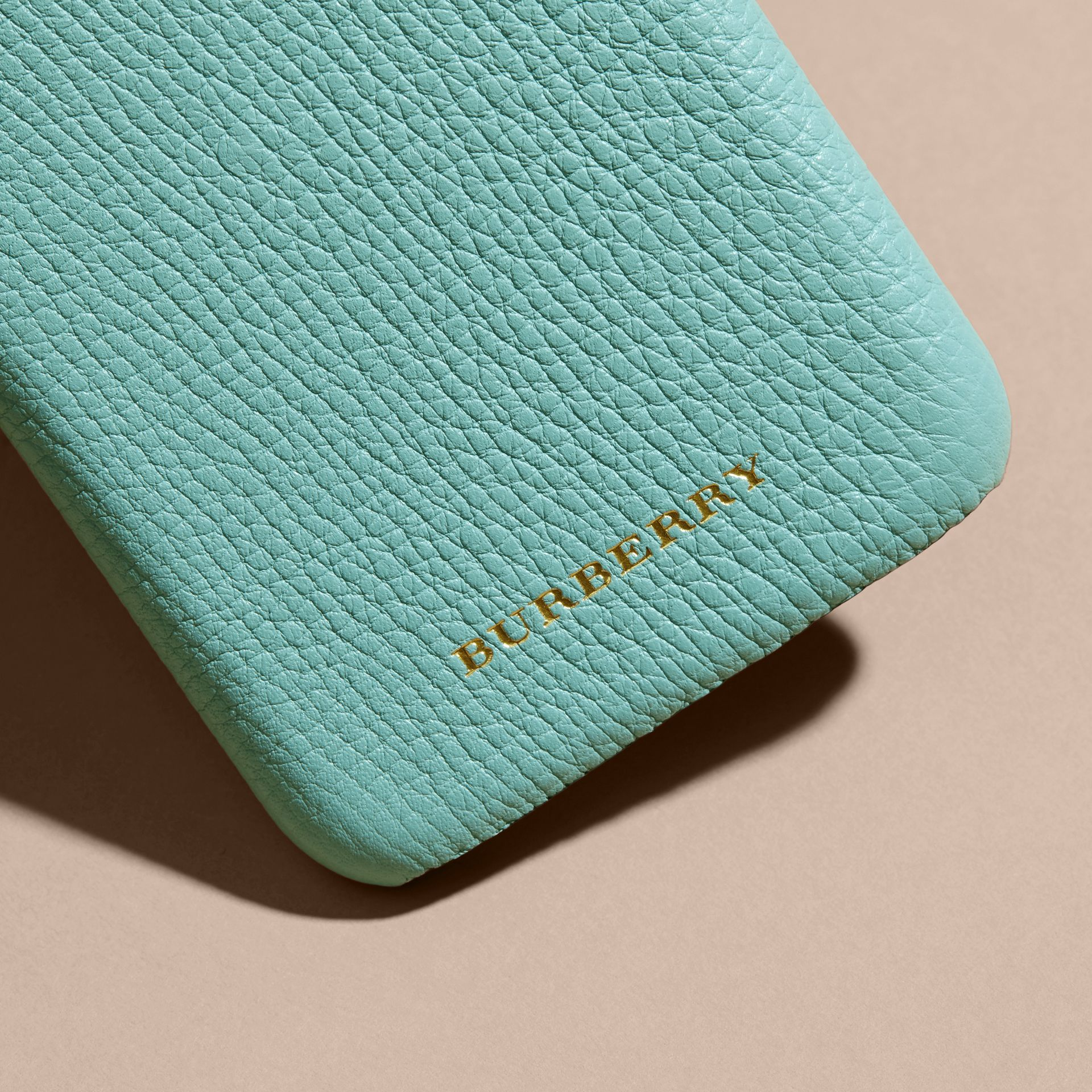 Grainy Leather iPhone 6 Case in Pale Opal - Women | Burberry Hong Kong - gallery image 2