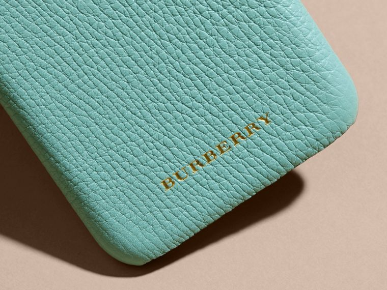Grainy Leather iPhone 6 Case in Pale Opal - Women | Burberry Hong Kong - cell image 1