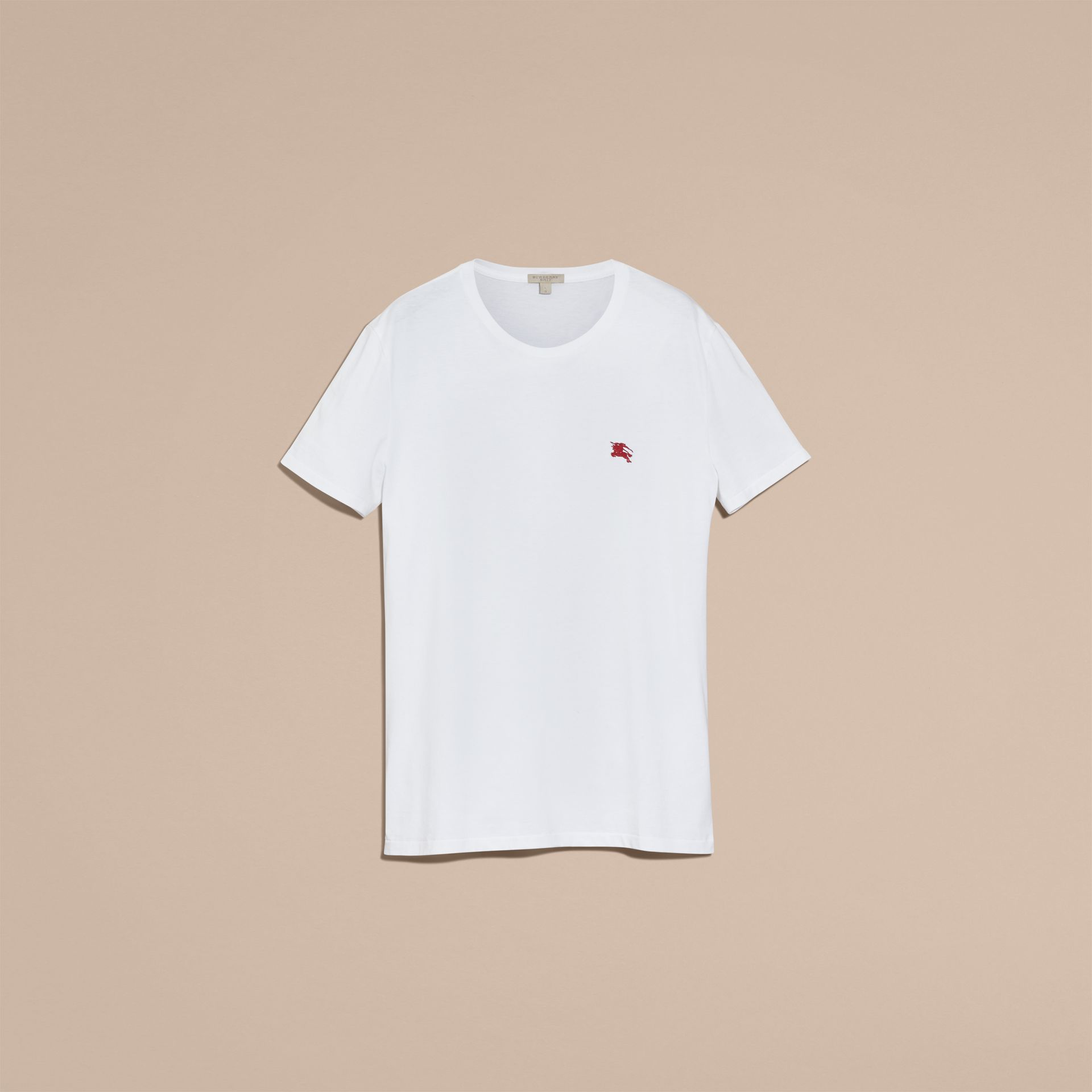 Cotton Jersey T-shirt in Optic White - gallery image 4