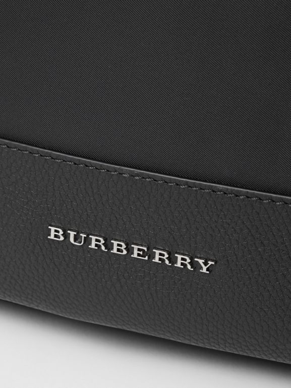 Leather Trim Baby Changing Rucksack in Black - Children | Burberry Canada - cell image 1