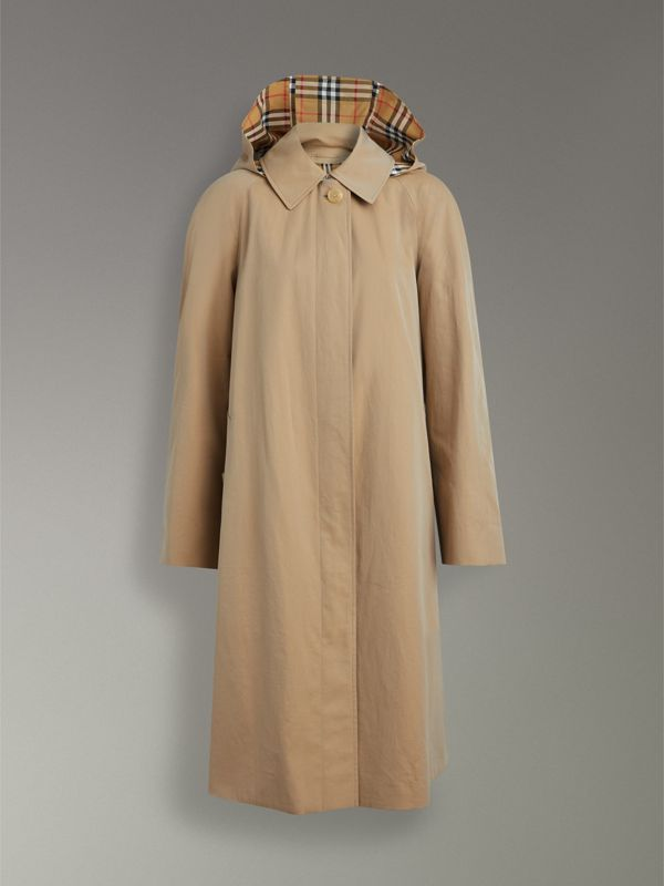 Detachable Hood Oversized Car Coat in Honey - Women | Burberry - cell image 3