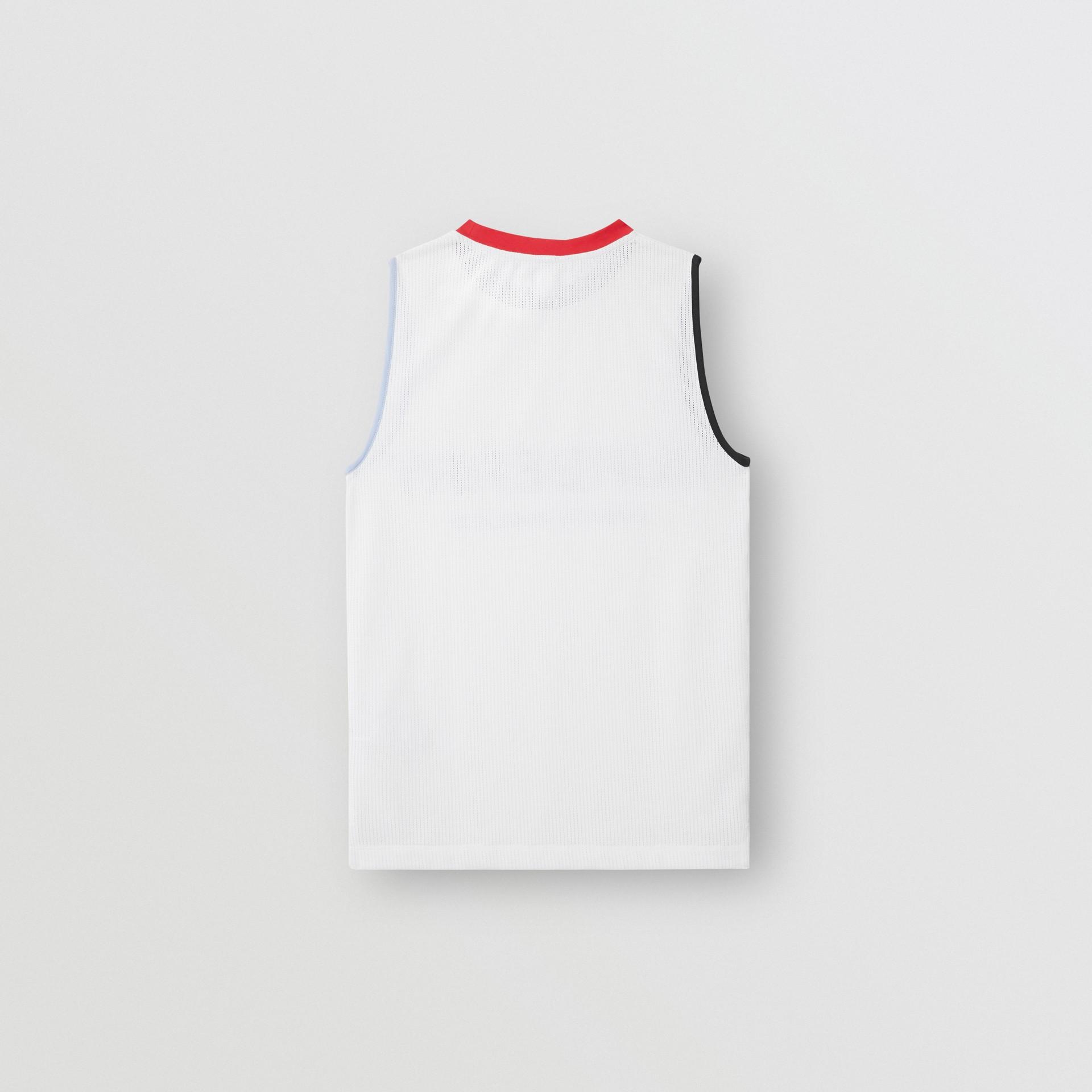 Logo Print Mesh Vest in White - Children | Burberry - gallery image 3
