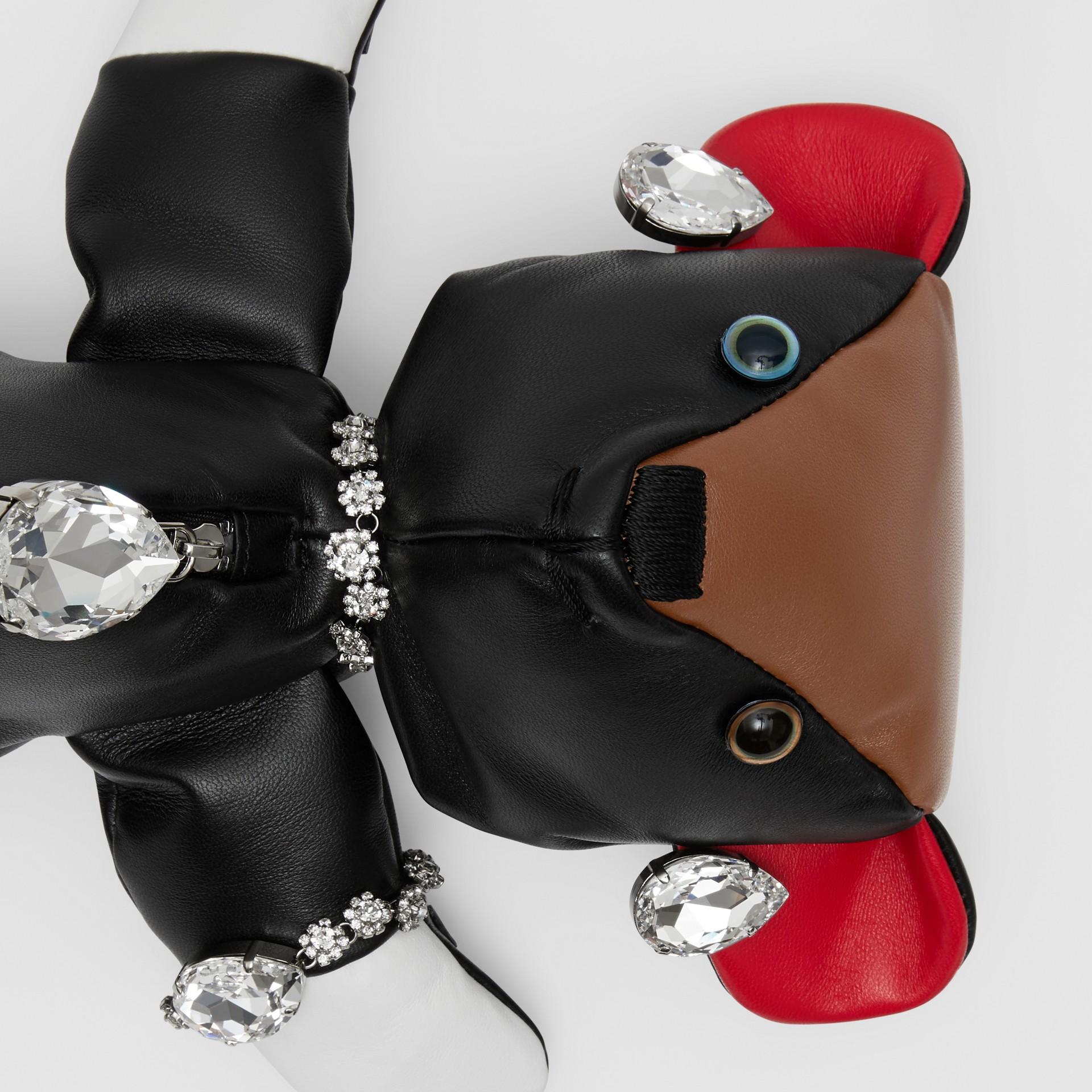 Embellished Thomas Bear Lambskin Bag in Black - Women | Burberry Canada - gallery image 7