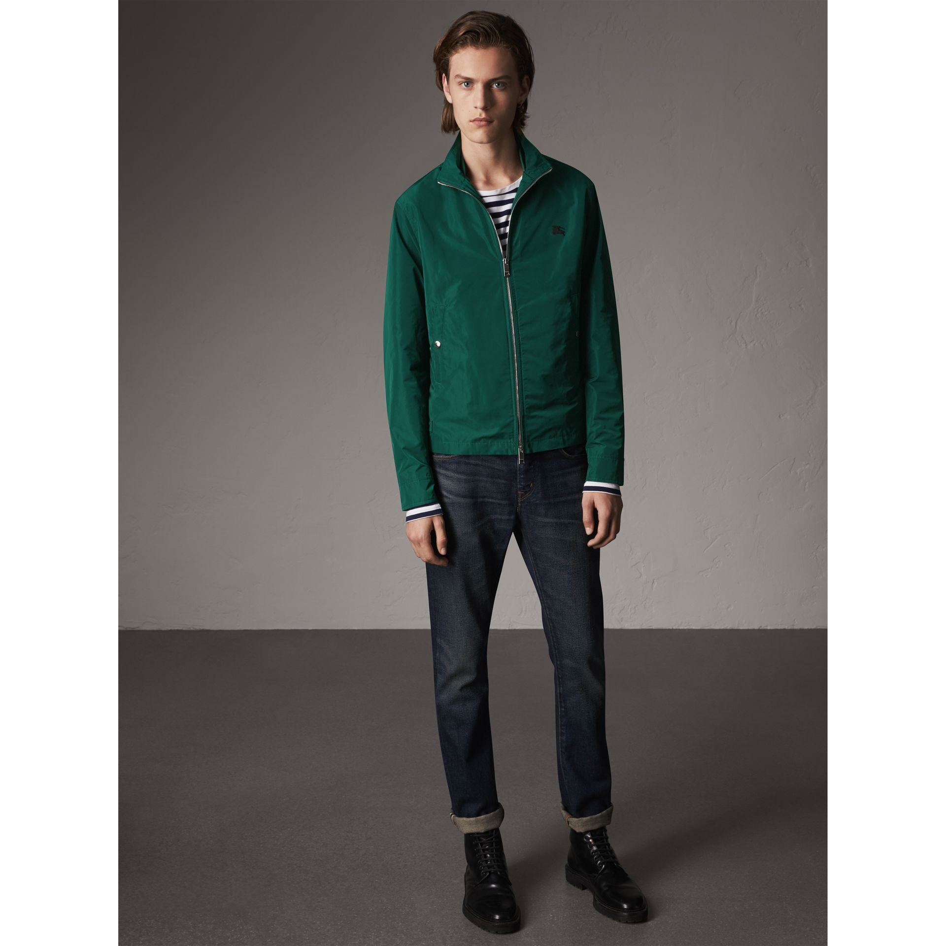 Lightweight Technical Jacket in Racing Green - Men | Burberry - gallery image 3