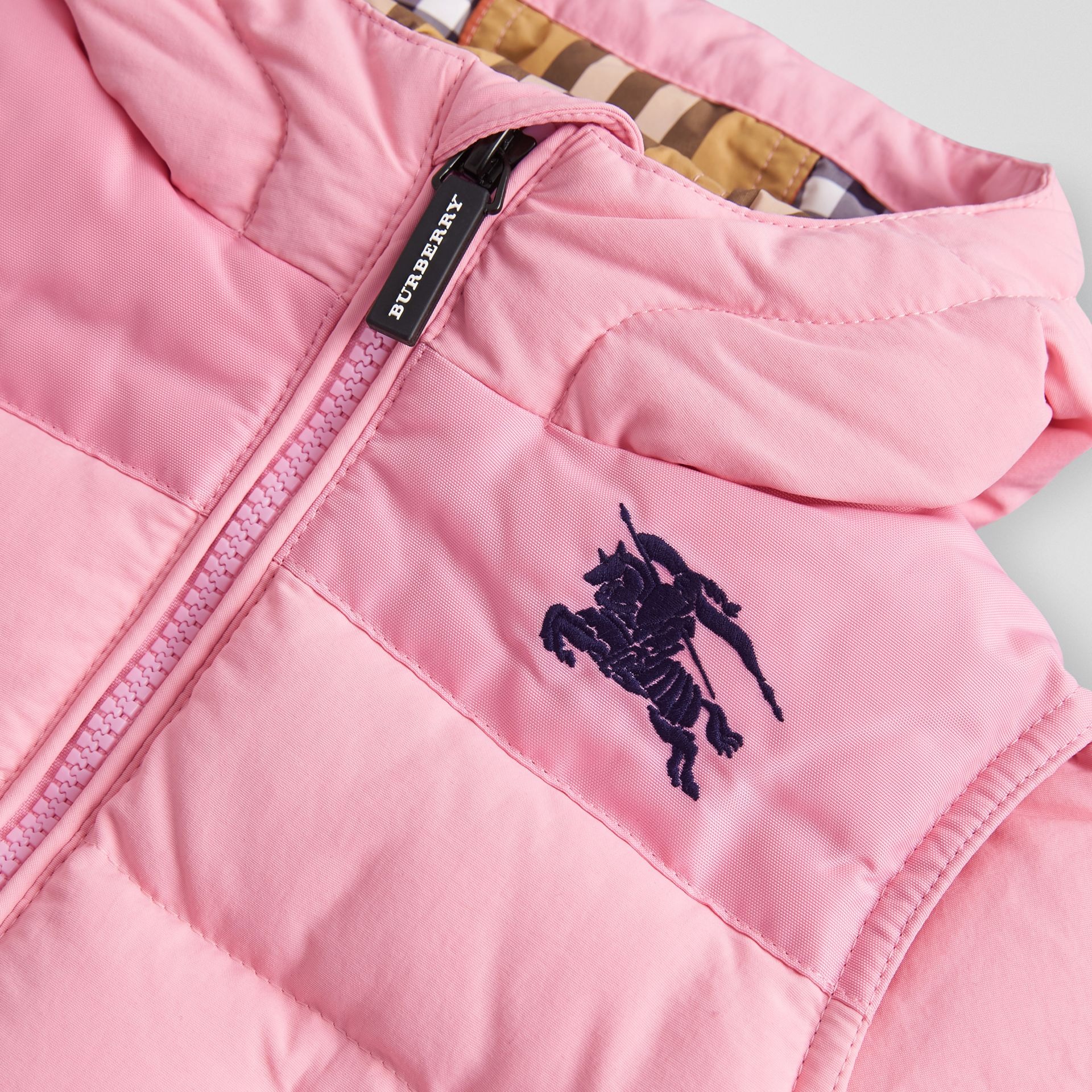 Down-filled Hooded Puffer Jacket in Ice Pink - Children | Burberry - gallery image 1