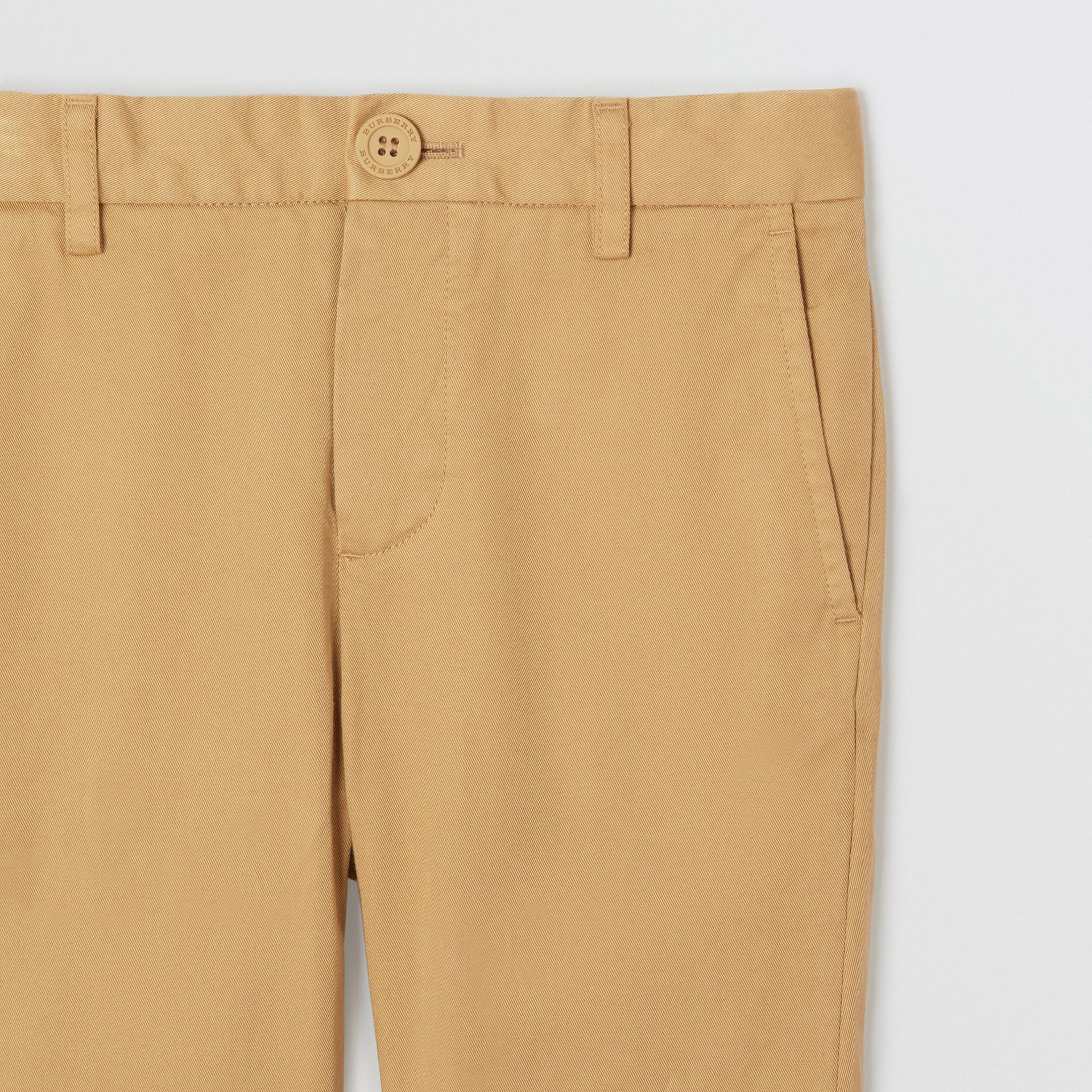 Cotton Chinos in Taupe | Burberry - gallery image 4