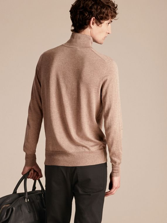 Stone Funnel Neck Cashmere Silk Sweater - cell image 2