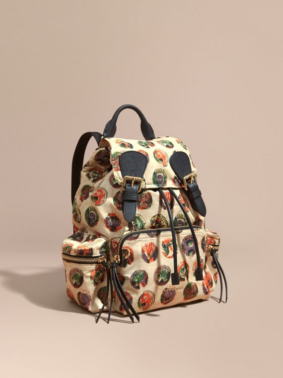 The Medium Rucksack in Technical Nylon with Pallas Heads Print