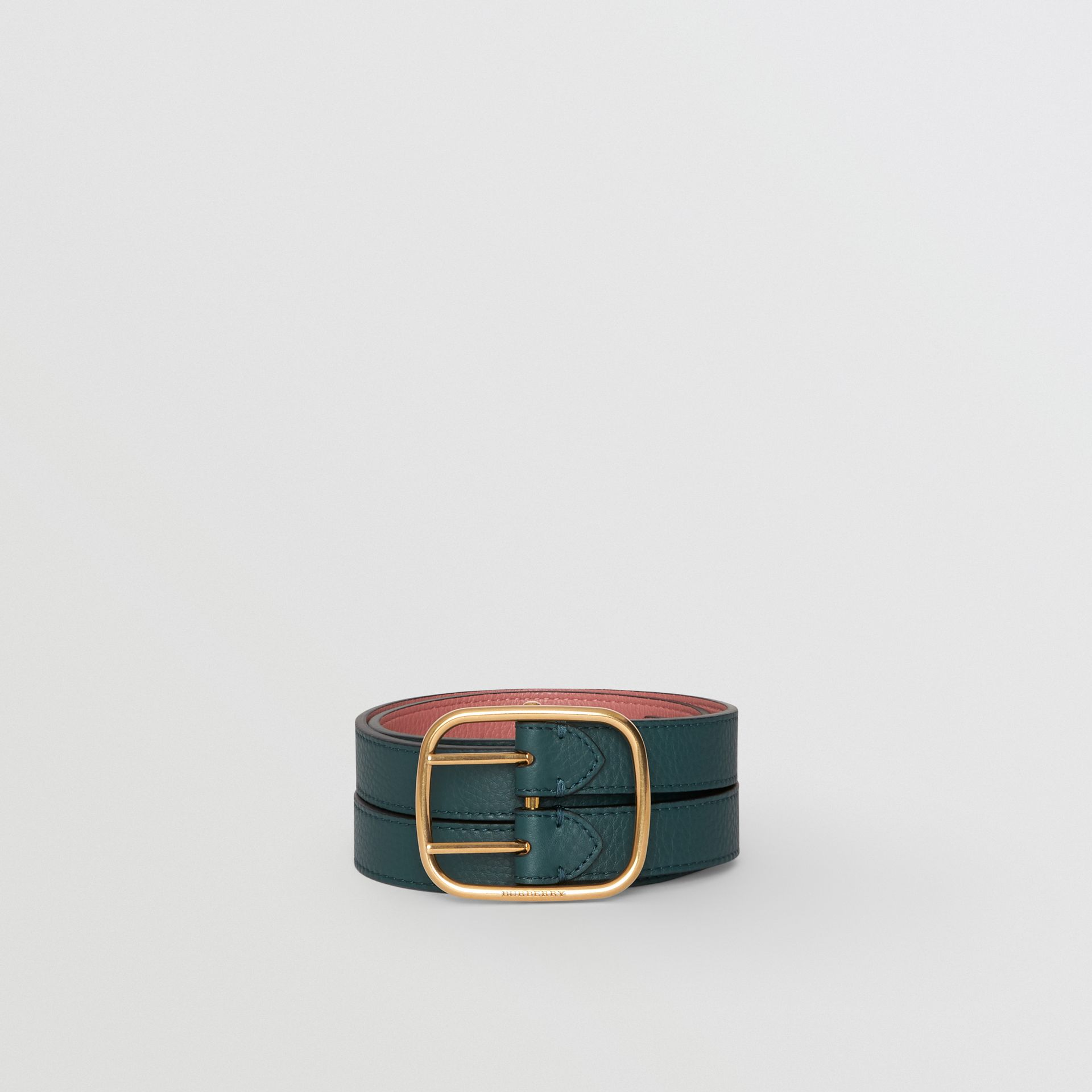 Double-strap Leather Belt in Dark Cyan/dusty Rose - Women | Burberry United Kingdom - gallery image 3
