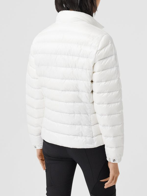 Logo Print Lightweight Puffer Jacket in White - Women | Burberry Australia - cell image 2