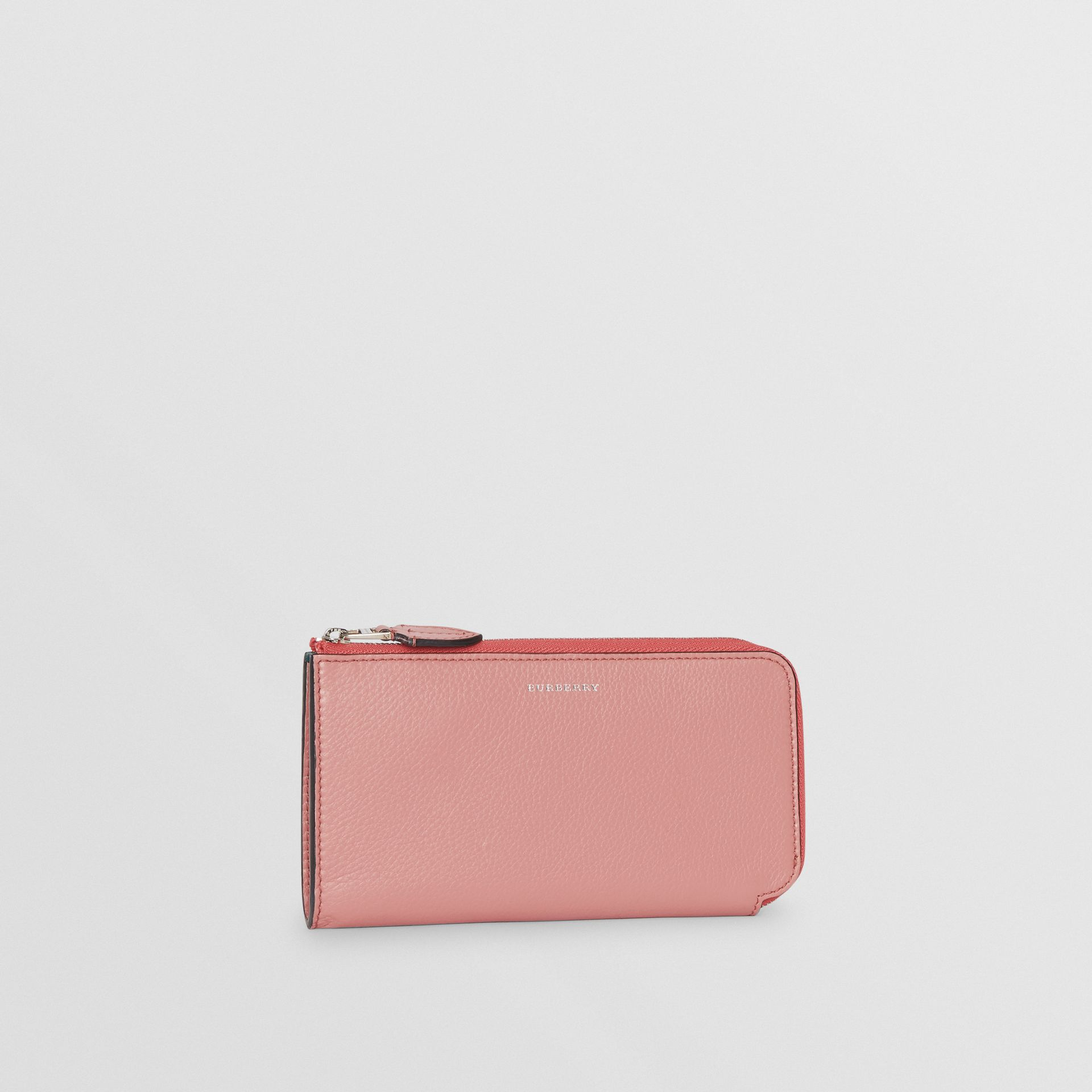 Two-tone Leather Ziparound Wallet and Coin Case in Dusty Rose - Women | Burberry - gallery image 4
