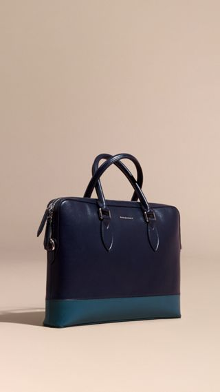 The Barrow Bag in Panelled London Leather