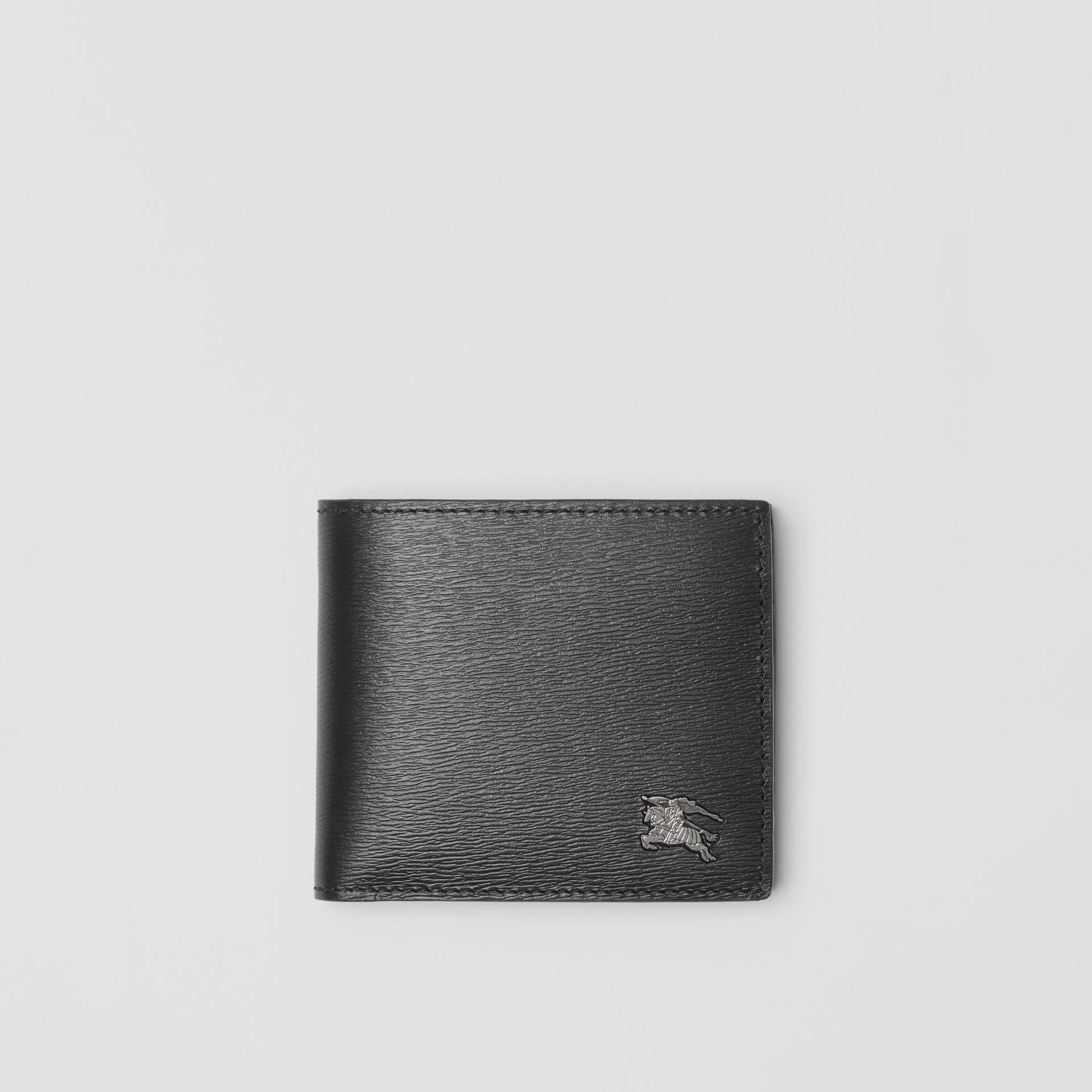 London Leather International Bifold Coin Wallet in Black - Men | Burberry - gallery image 0