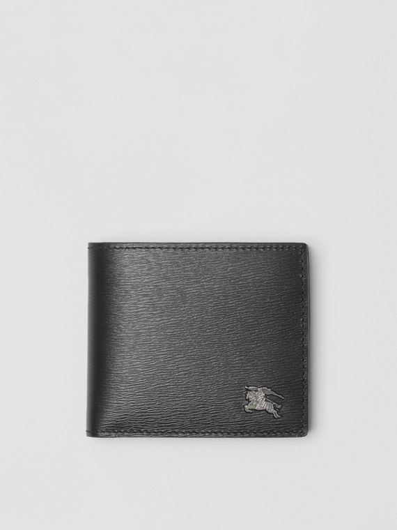 London Leather International Bifold Coin Wallet in Black