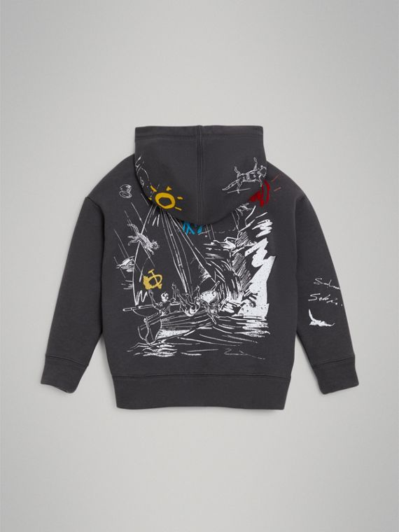 Adventure Print Zip-up Hoodie in Charcoal - Boy | Burberry Singapore - cell image 3