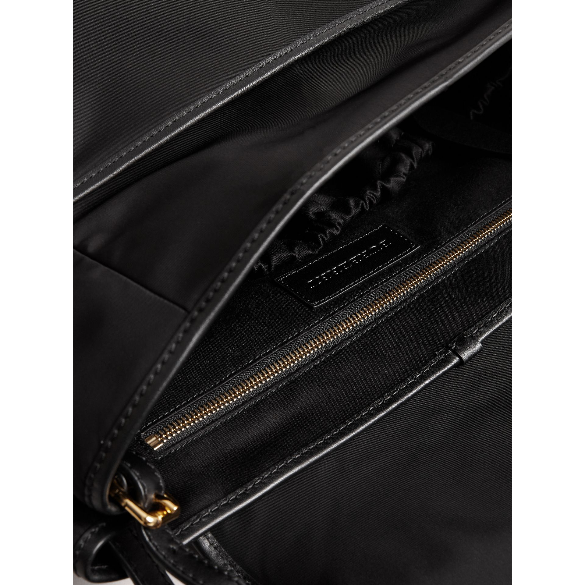 Check-quilted Baby Changing Shoulder Bag in Black | Burberry - gallery image 3