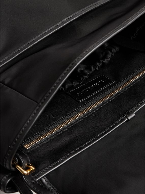 Check-quilted Baby Changing Shoulder Bag in Black | Burberry - cell image 3