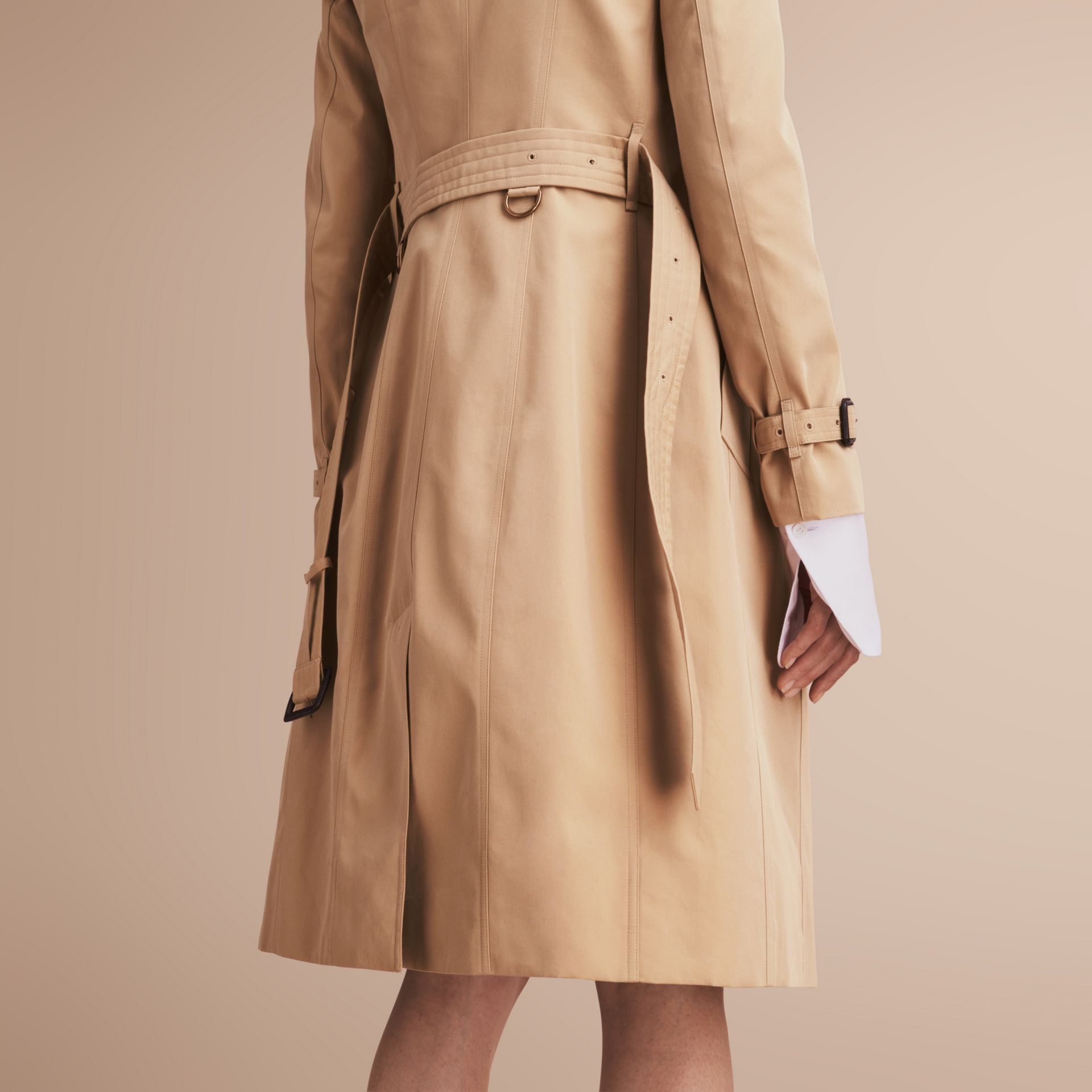 The Sandringham – Extra-long Heritage Trench Coat in Honey - gallery image 6