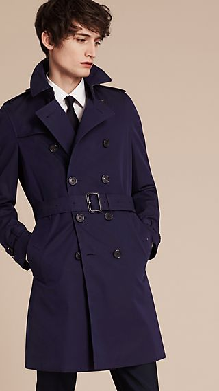 The Chelsea – Trench coat de gabardine de algodão