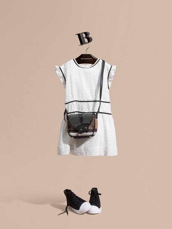 Ruffle Detail Fil Coupé Silk Blend Dress