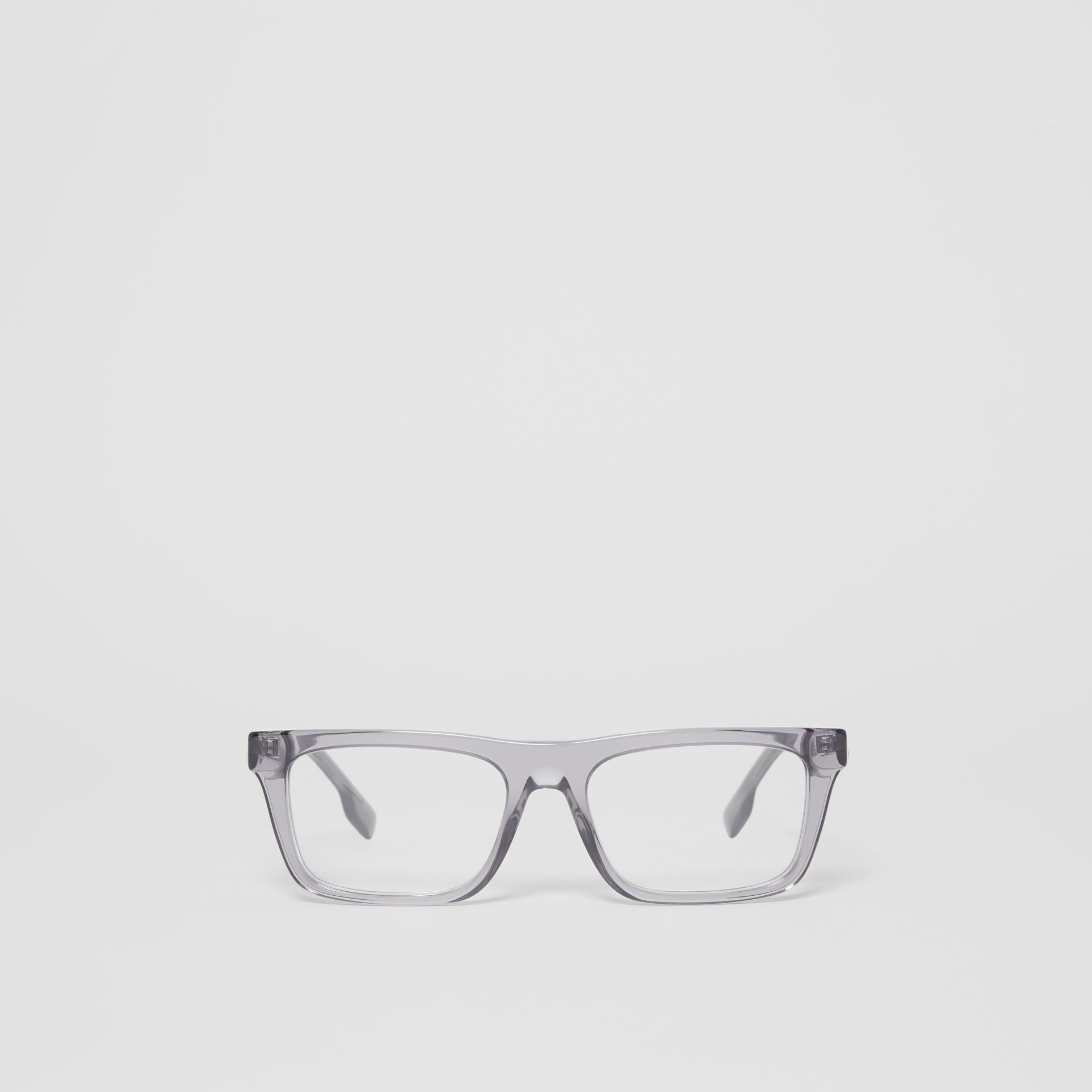 Rectangular Optical Frames in Grey - Men | Burberry Australia - gallery image 0