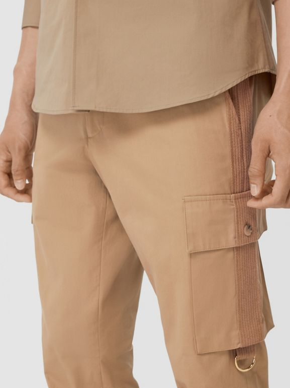 Cotton Twill Cargo Trousers in Pale Coffee - Men | Burberry - cell image 1